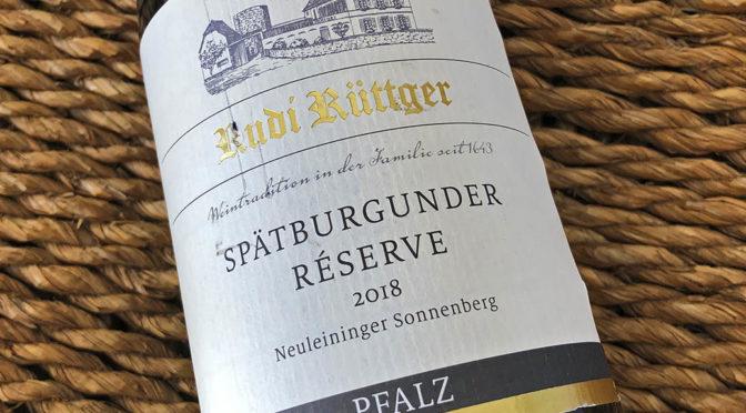 2018 Weingut Rudi Rüttger, Neuleininger Sonnenberg Spätburgunder Réserve, Pfalz, Tyskland