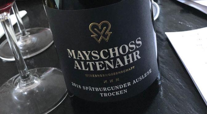 2018 WG Mayschoß-Altenahr, Spätburgunder Auslese Trocken, Ahr, Tyskland