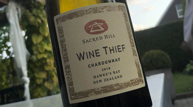 2018 Sacred Hill Vineyards, Wine Thief Chardonnay, Hawkes Bay, New Zealand