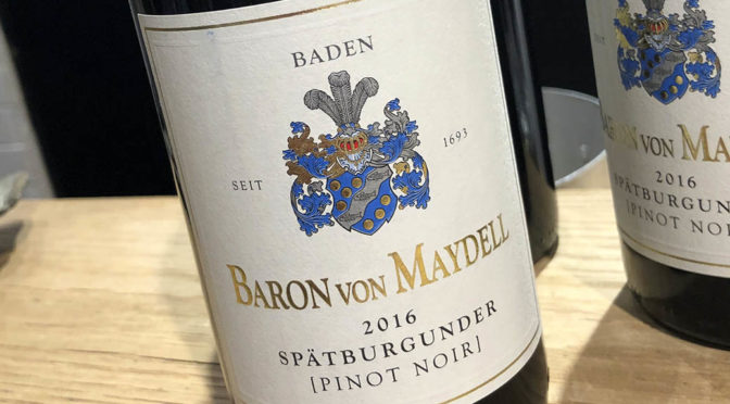 2016 Weingut Baron von Maydell, Spätburgunder, Baden, Tyskland