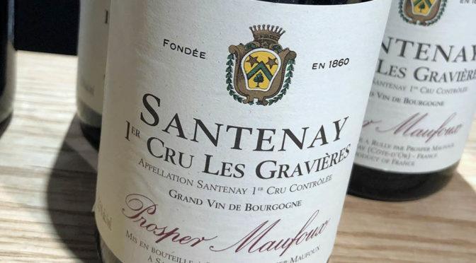 2016 Prosper Maufoux, Santenay 1er Cru Les Gravières, Bourgogne, Frankrig