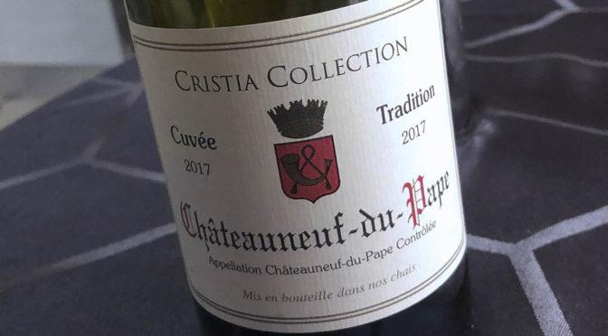 2017 Domaine de Cristia, Cristia Collection Châteauneuf-du-Pape Cuvée Tradition, Rhône, Frankrig