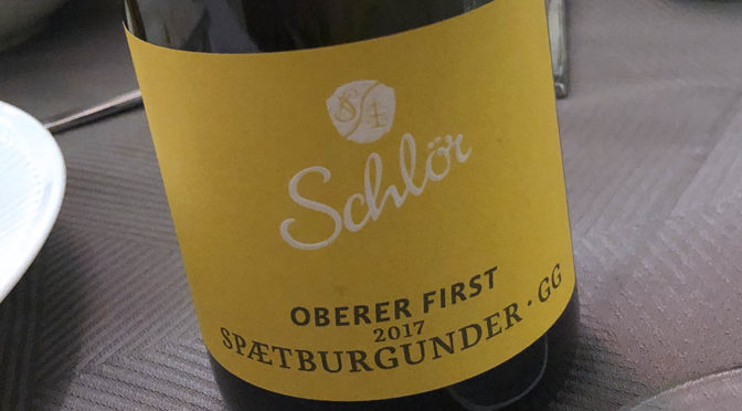 2017 Weingut Schlör, Reicholzheimer Oberer First Spætburgunder GG, Baden, Tyskland
