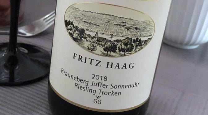 2018 Weingut Fritz Haag, Brauneberger Juffer Sonnenuhr Riesling Trocken GG, Mosel, Tyskland