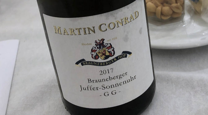 2017 Weingut Martin Conrad, Brauneberger Juffer-Sonnenuhr Riesling GG, Mosel, Tyskland