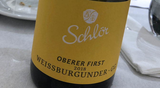 2018 Weingut Schlör, Oberer First Weissburgunder GG, Baden, Tyskland