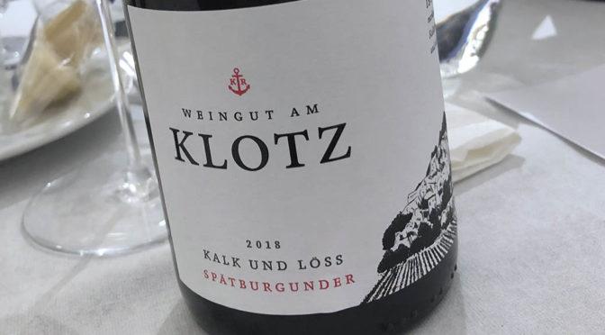 2018 Weingut am Klotz, Kalk und Löss Spätburgunder, Baden, Tyskland