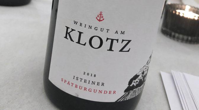 2018 Weingut am Klotz, Isteiner Spätburgunder, Baden, Tyskland