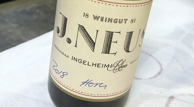 2018 Weingut J. Neus, Horn Spätburgunder GG, Rheinhessen, Tyskland