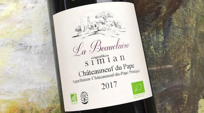 2017 Château Simian, La Beauclaire Châteauneuf-du-Pape, Rhône, Frankrig