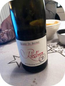 2015 Weingut Brüder Dr. Becker, Riesling Trocken, Rhienhessen, Tyskland