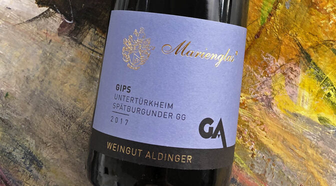 2017 Weingut Aldinger, Untertürkheimer Gips Marienglas Spätburgunder GG, Württemberg, Tyskland