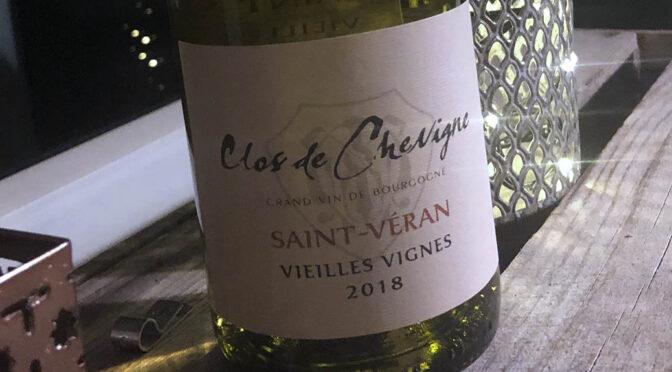 2018 Clos de Chevigne, Saint-Véran Vieilles Vignes, Bourgogne, Frankrig
