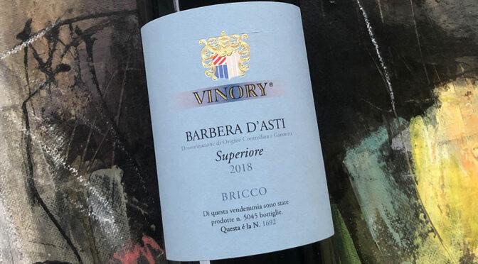 2018 Vinory, Barbera d'Asti Superiore Bricco, Piemonte, Italien