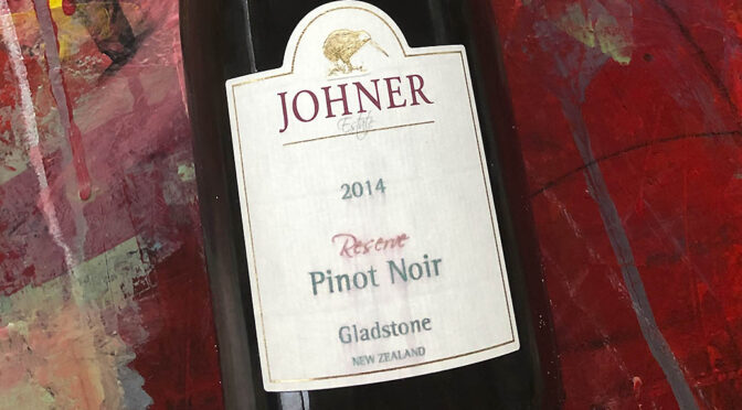 2014 Johner Estate, Gladstone Pinot Noir Reserve, Wairarapa, New Zealand