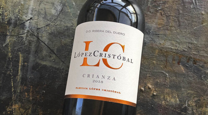 2018 Bodegas López Cristobal, Crianza, Ribera del Duero, Spanien