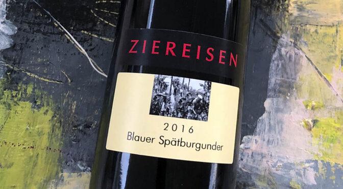 2016 Weingut Ziereisen, Blauer Spätburgunder, Baden, Tyskland