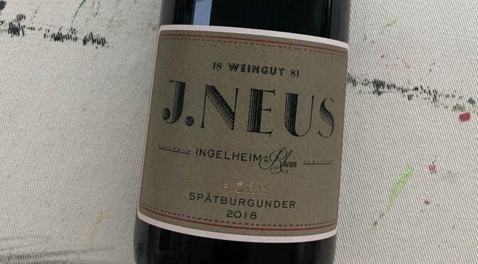 2018 Weingut J. Neus, Ingelheimer Horn Spätburgunder GG, Rheinhessen, Tyskland