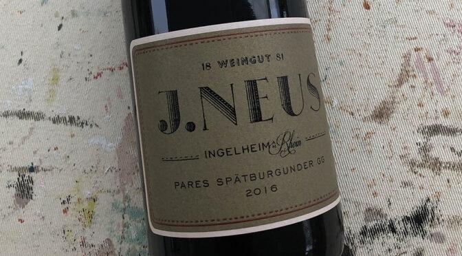 2016 Weingut J. Neus, Ingelheimer Pares Spätburgunder GG, Rheinhessen, Tyskland