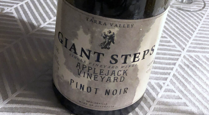 2019 Giant Steps Wine, Applejack Vineyard Pinot Noir, Victoria, Australien