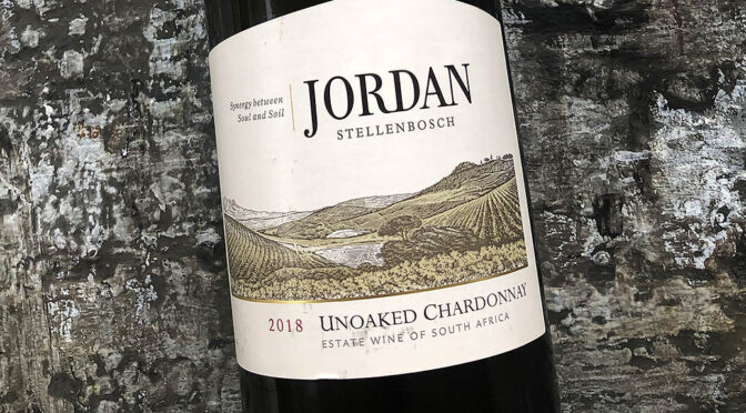 2018 Jordan Wine Estate, Unoaked Chardonnay, Stellenbosch, Sydafrika