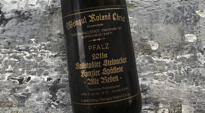 2011 Weingut Roland Christ, Kallstadter Steinacker Kanzler Spätlese Alte Reben, Pfalz, Tyskland