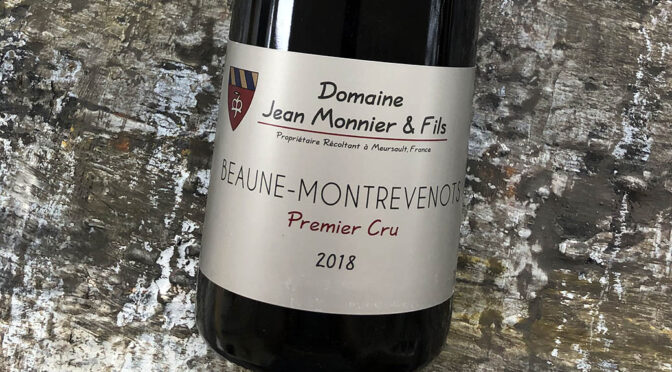 2018 Jean Monnier & Fils, Beaune 1er Cru Les Montrevenots, Bourgogne, Frankrig