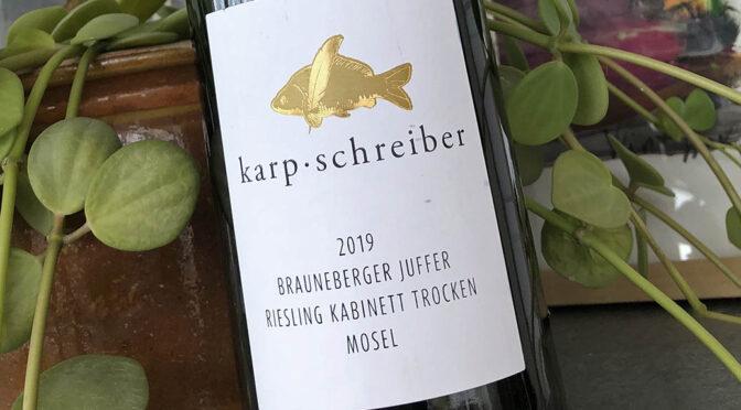 2019 Weingut Karp-Schreiber, Brauneberger Juffer Riesling Kabinett Trocken, Mosel, Tyskland