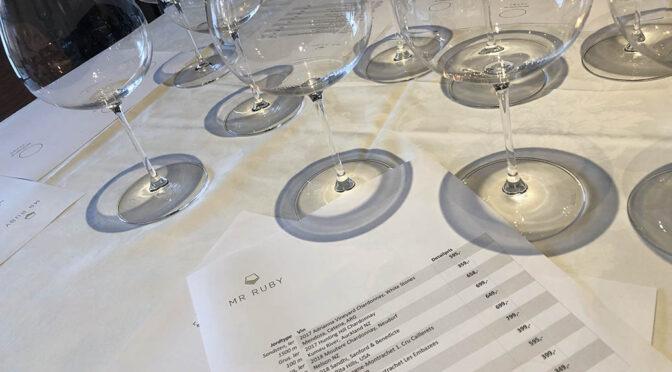 Houlberg til Mr Ruby smagningen … hvor står tysk Chardonnay?