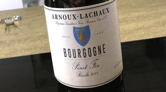 2018 Domaine Arnoux-Lachaux, Pinot Fin, Bourgogne, Frankrig
