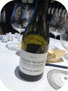 2017 Benjamin Leroux, Chassagne-Montrachet 1er Cru Les Embazées, Bourgogne, Frankrig