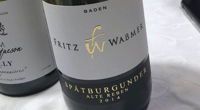 2014 Weingut Fritz Waßmer, Spätburgunder Alte Reben, Baden, Tyskland