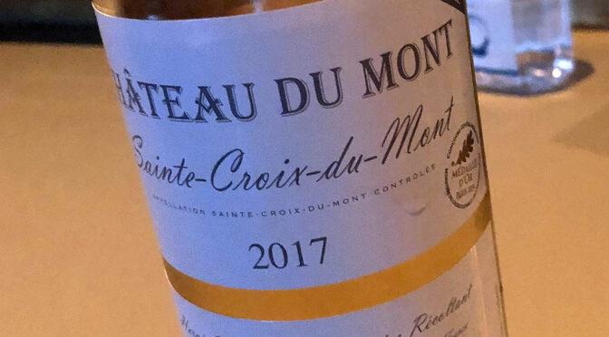 2017 Château du Mont, Sainte-Croix-du-Mont, Bordeaux, Frankrig