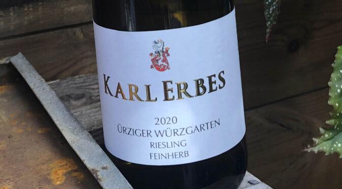 2020 Weingut Karl Erbes, Ürziger Würzgarten Riesling Feinherb, Mosel, Tyskland