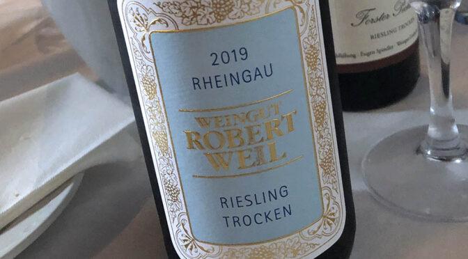 2019 Weingut Robert Weil, Riesling Trocken, Rheingau, Tyskland