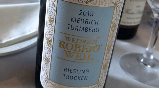 2019 Weingut Robert Weil, Kiedrich Turmberg Riesling Trocken, Rheingau, Tyskland