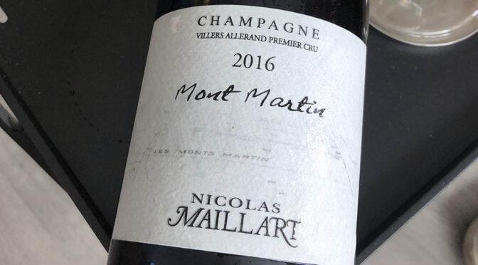 2016 Nicolas Maillart, Mont Martin 1er Cru, Champagne, Frankrig