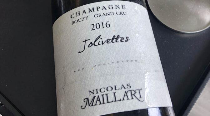 2016 Nicolas Maillart, Jolivettes Grand Cru, Champagne, Frankrig