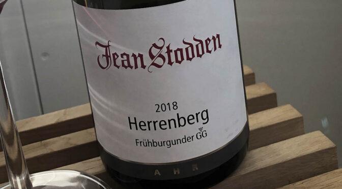 2018 Weingut Jean Stodden, Recher Herrenberg Frühburgunder GG, Ahr, Tyskland