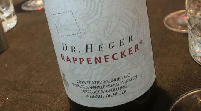 2015 Weingut Dr. Heger, Ihringen Winklerberg Winklen Spätburgunder GG Rappenecker, Baden, Tyskland