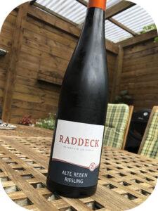 2018 Weingut Raddeck, Riesling Alte Reben, Rheinhessen, Tyskland