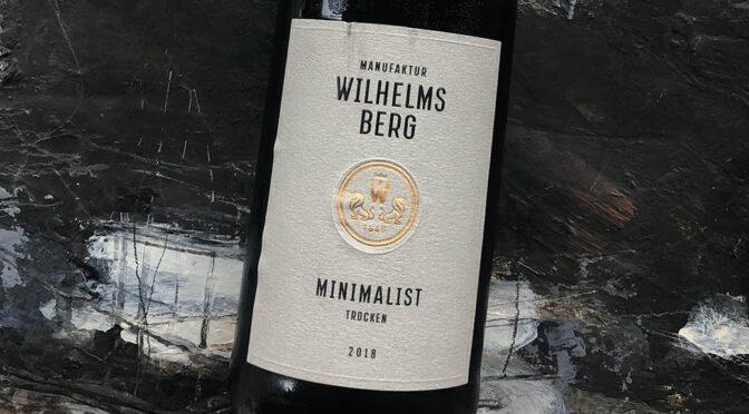 2018 Gut Wilhelmsberg, Minimalist Trocken, Franken, Tyskland