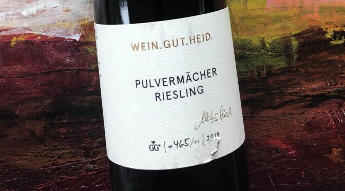 2019 Weingut Heid, Stettener Pulvermächer Riesling GG, Württemberg, Tyskland