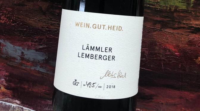 2018 Weingut Heid, Fellbacher Lämmler Lemberger GG, Württemberg, Tyskland