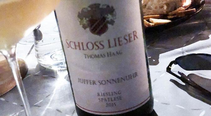 2015 Weingut Schloss Lieser, Brauneberger Juffer Sonnenuhr Riesling Spätlese, Mosel, Tyskland