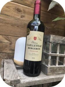 2018 Château Cailleteau Bergeron, Blaye Côtes de Bordeaux Tradition, Bordeaux, Frankrig
