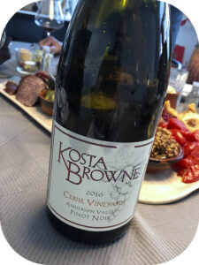 2016 Kosta Browne Winery, Cerise Vineyard Pinot Noir, Californien, USA