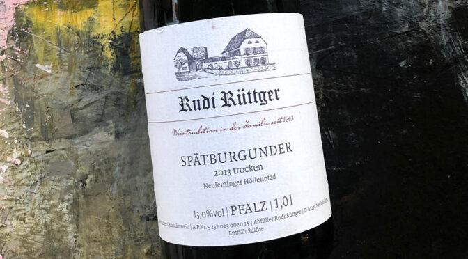 2013 Weingut Rudi Rüttger, Neuleininger Höllenpfad Spätburgunder, Pfalz, Tyskland
