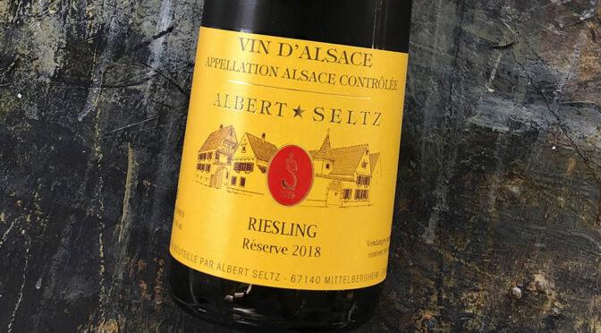 2018 Domaine Albert Seltz, Riesling Reserve, Alsace, Frankrig