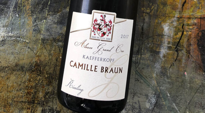 2017 Domaine Camille Braun, Riesling Grand Cru Kaefferkopf, Alsace, Frankrig